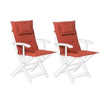 Conjunto de 2 cojines para silla de jardín terracota MAUI