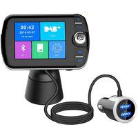 Transmisor FM inalámbrico Bluetooth LCD con MP3 USB Manos libres para