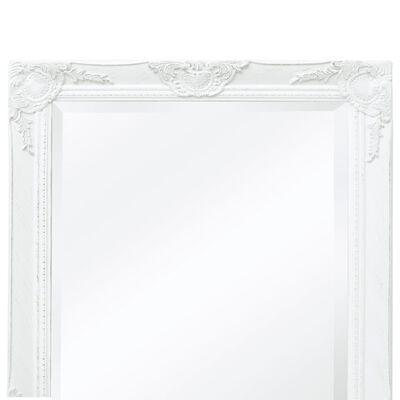 vidaXL Espejo de pared estilo barroco blanco 100x50 cm