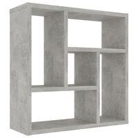 vidaXL Estantería de pared de aglomerado gris hormigón 45,1x16x45,1 cm