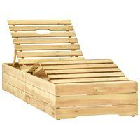 vidaXL Tumbona de madera de madera de pino impregnada verde