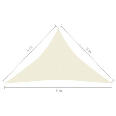 vidaXL Toldo de vela cream HDPE 160 g/m² 5x5x6 m