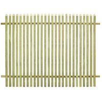 vidaXL Valla de jardín de madera de pino impregnada 170x125 cm