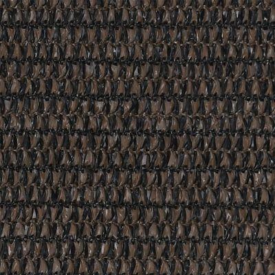 vidaXL Toldo para balcón HDPE marrón 120x400 cm