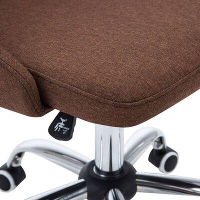 vidaXL Sillas de comedor giratorias 6 unidades de tela marrón