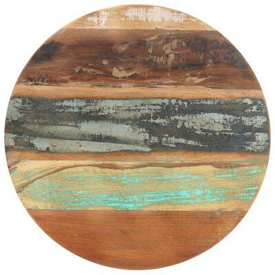 vidaXL Mesa de bistró madera maciza reciclada Ø60x76 cm