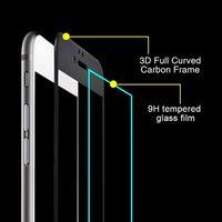 Protector de pantalla iPhone 8 Vidrio templado / 3D completo - Negro