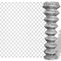 vidaXL Valla de tela metálica acero galvanizado plateado 15x1,5 m
