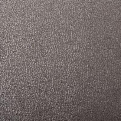 vidaXL Sillón para la televisión de cuero sintético gris