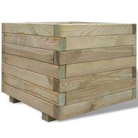 vidaXL Arriate cuadrado madera 50x50x40 cm