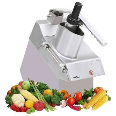 vidaXL Cortador de verduras gastro 5 cuchillas acero inoxidable 550 W
