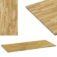 vidaXL Tablero de mesa rectangular madera maciza roble 23 mm 120x60 cm