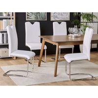 Conjunto de 2 sillas de comedor en piel sintética blanco PICKNES