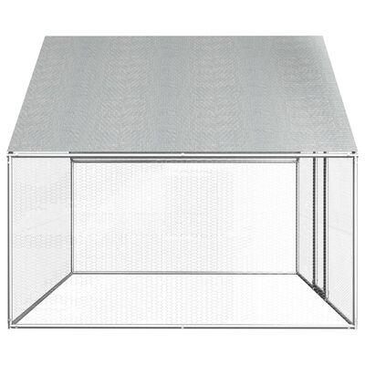 vidaXL Jaula gallinero de exterior de acero galvanizado 2,75x2x1,92 m
