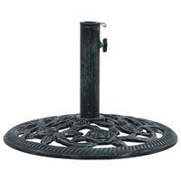 vidaXL Base de sombrilla de hierro fundido verde 9 kg 40 cm