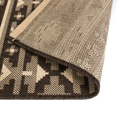 vidaXL Alfombra exterior/interior 140x200 cm look sisal diseño étnico