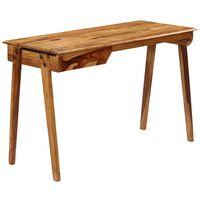 vidaXL Escritorio de madera maciza de sheesham 118x50x76 cm