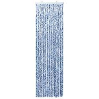 vidaXL Cortina mosquitera azul y blanco chenilla 56x200 cm