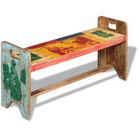 vidaXL Banco cola de madera maciza reciclada 100x30x50 cm