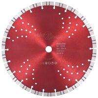 vidaXL Disco de corte de diamante con turbo y agujeros acero 300 mm