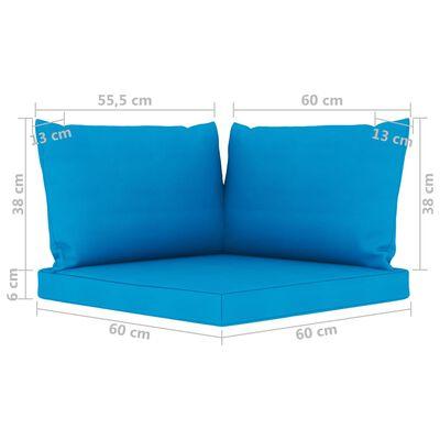 vidaXL Juego de muebles de jardín 9 piezas con cojines azul claro