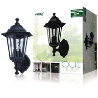 Ranex Lámpara de pared 60 W negra CLAS5000.030