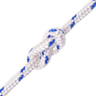 vidaXL Cuerda marina de polipropileno 14 mm 250 m blanca
