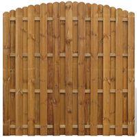 vidaXL Panel de valla de jardín de madera de pino 180x(165-180) cm