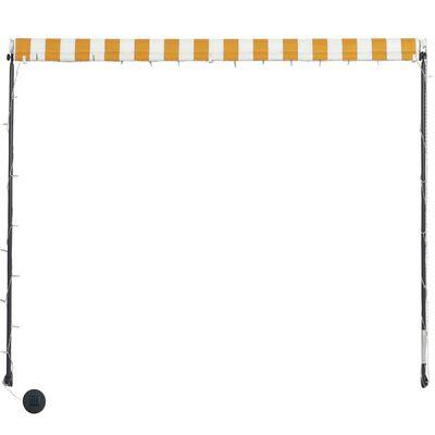 vidaXL Toldo retráctil con LED amarillo y blanco 350x150 cm