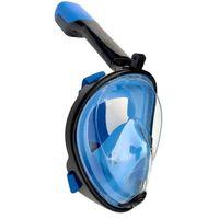 Máscara de snorkel con soporte para cámara - azul / negro - S / M
