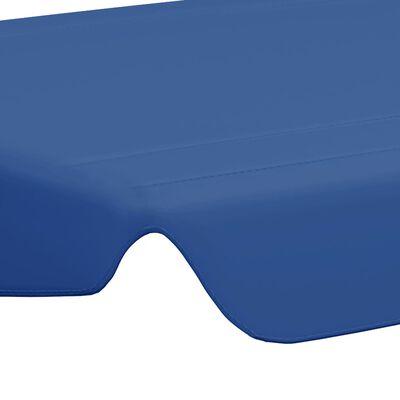 vidaXL Dosel de repuesto columpio de jardín azul 150/130x70/105 cm