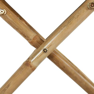 vidaXL Sillas de director plegables 2 piezas bambú y tela verde