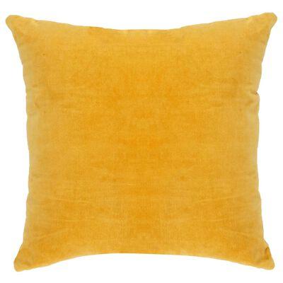 vidaXL Cojines 2 unidades terciopelo de algodón amarillo 45x45 cm