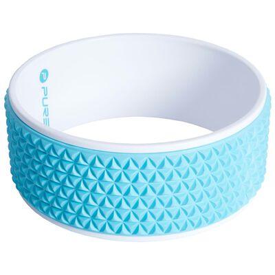 Pure2Improve Rueda de yoga azul y blanco 34 cm