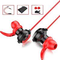 Auriculares intrauditivos con micrófono desmontable - negro / rojo