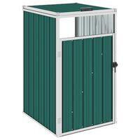 vidaXL Cobertizo para contenedor de basura acero 72x81x121 cm