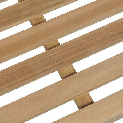 vidaXL Banco de jardín madera maciza teca con cojín antracita 150 cm