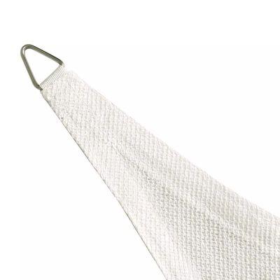 vidaXL Toldo de vela cuadrado HDPE blanco 3,6x3,6 m