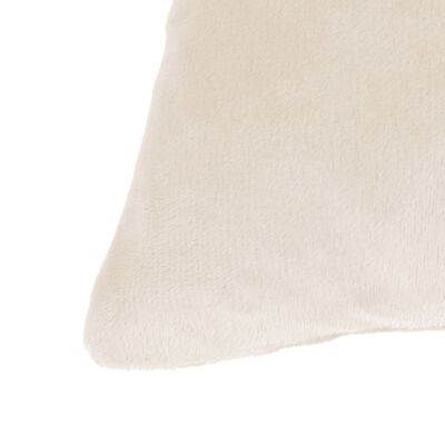 vidaXL Cojines de terciopelo blanco crudo 45x45 cm 2 unidades