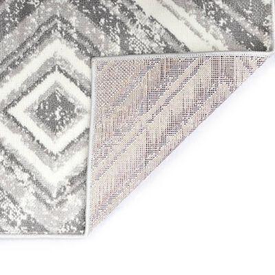 vidaXL Alfombra de PP gris 80x150 cm
