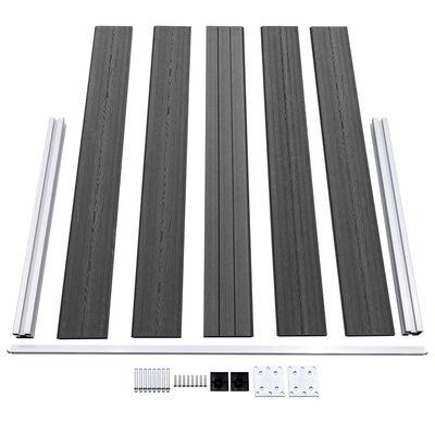 vidaXL Set de paneles de valla WPC negro 872x105 cm