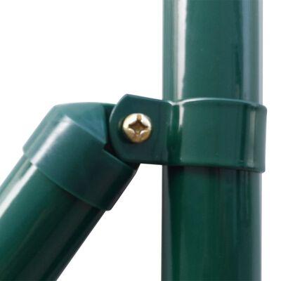 vidaXL Euro Valla de acero verde 25x1,2 m
