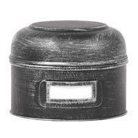 LABEL51 Caja de almacenaje negro envejecido S 13x13x10 cm