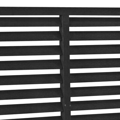 vidaXL Valla de lamas WPC negro 85x170 cm
