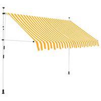 vidaXL Toldo manual retráctil 300 cm naranja y blanco a rayas