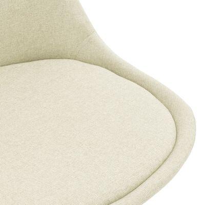 vidaXL Sillas de comedor 2 unidades tela color crema
