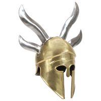 vidaXL Réplica de casco de guerrero griego rol en vivo acero latón