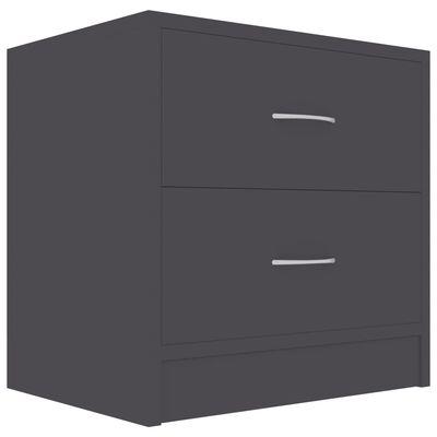 vidaXL Mesitas de noche 2 unidades aglomerado gris 40x30x40 cm