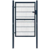 Puerta de verja 2D (sencilla) gris antracita 106 x 230 cm