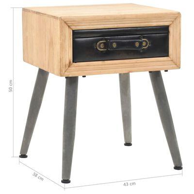 vidaXL Mesita de noche de madera maciza de abeto 43x38x50 cm